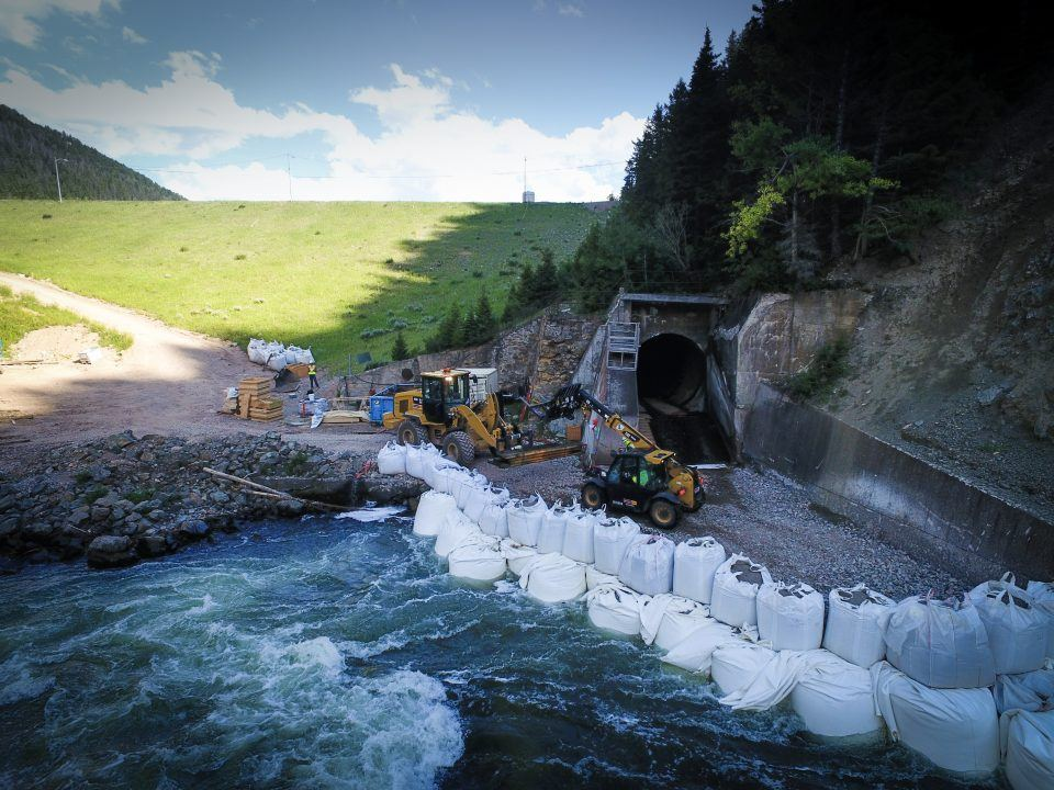 hebgen dam outlet pipe rehabilitation