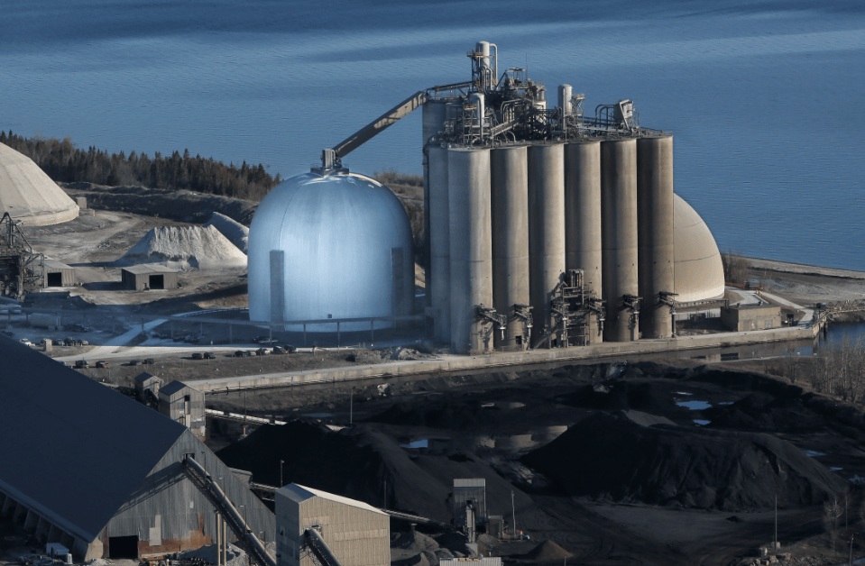 long-term cement storage