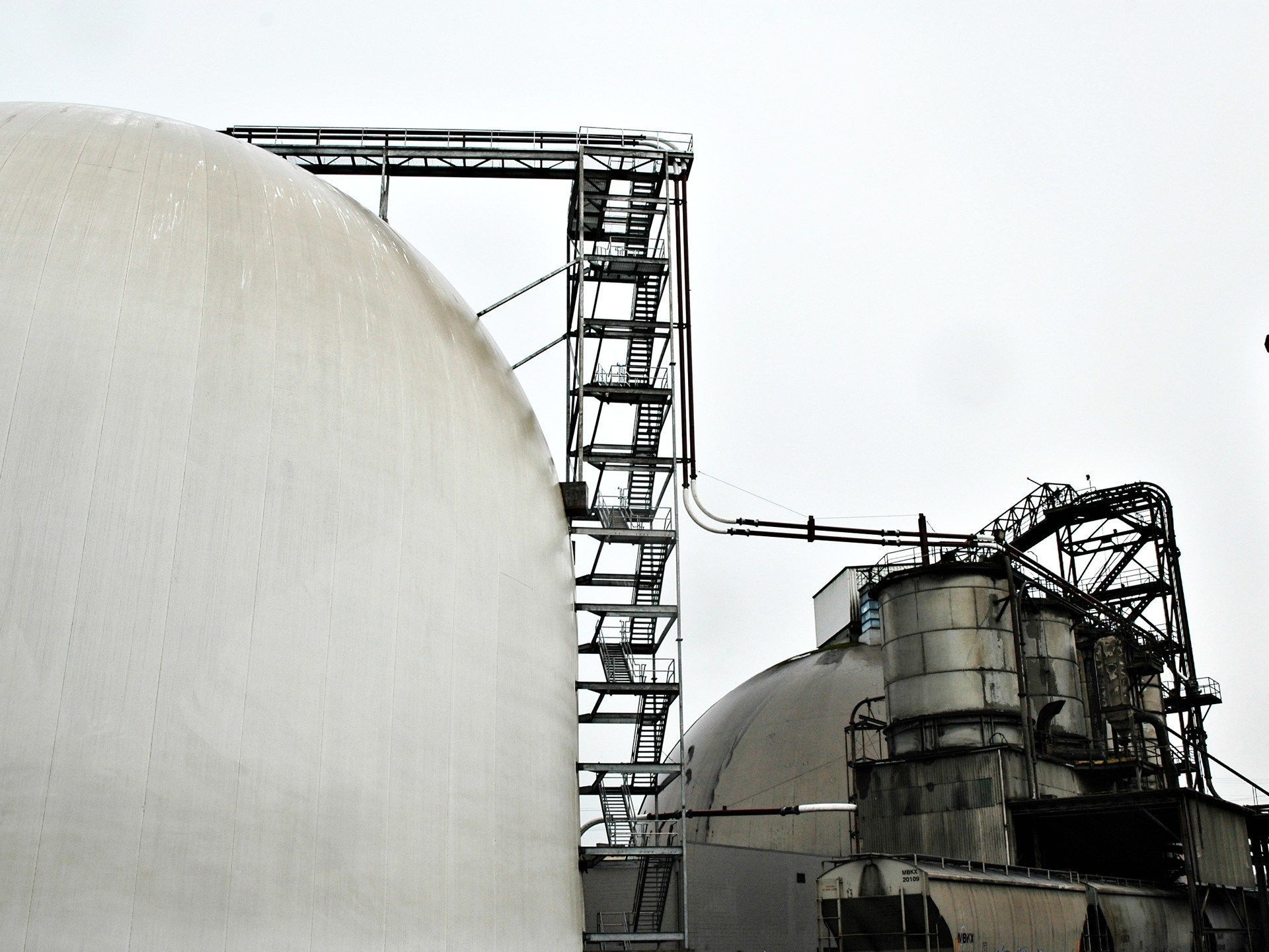 Cement bulk storage domes